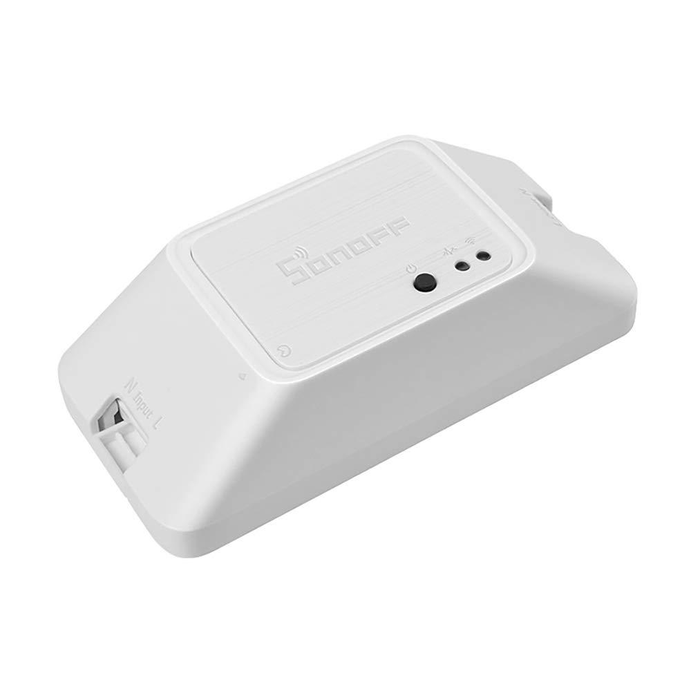 Cofemy Interruptor inalámbrico WIFI Temporizador de luces Smart Home Google Alexa Compatible LAN eWelink APP Control remoto por voz Módulo de control remoto DIY para SONOFF Basic R3