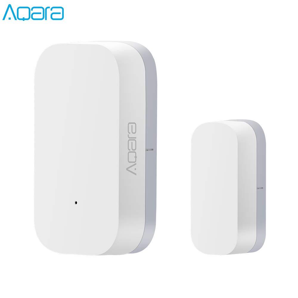 Aqara Smart Door And Window Sensor,Sensor de Puerta y Ventana,ZigBee conexión inalámbrica Inteligente,Compatible con Hub Aqara de Alarma de Seguridad Antirrobo El Detector de Sensor de Imán