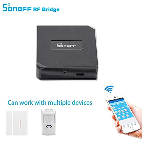 3 in 1 Kits:Sonoff RF Bridge WiFi 433Mhz + PIR2 PIR Infrared Human Sensor + DW1 Door and Window Alarm Sensor For Smart Home Remote Control by iOS Android Works with (Amazon Alexa Google Home)