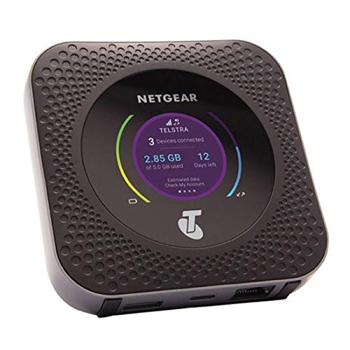 NETGEAR Nighthawk M1 - Router 4G LTE móvil MR1100 hasta 1Gbps de velocidad de descarga, Conecta hasta 20 dispositivos WiFi , Crea tu red inalámbrica donde quieras, Libre para cualquier tarjeta SIM