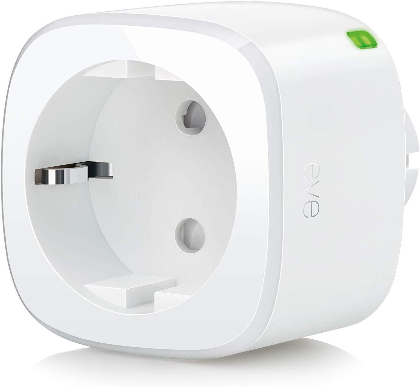 Eve Energy - Interruptor y contador eléctrico inalámbrico, Bluetooth Low Energy, non occorrono bridge o gateway, blanco (Apple HomeKit)