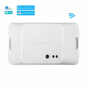 OWSOO SONOFF Interruptor Inteligente WiFi DIY WiFi Smart Switch Compatible con Alexa y Google Nest/Home Control de Voz Control Remoto App Temporizador 10A/2200W Módulo de Automatización