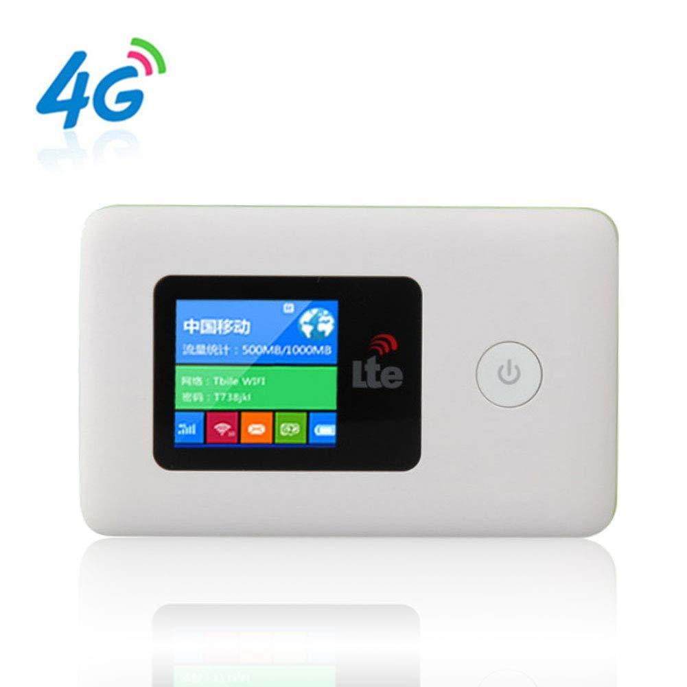 xiegons0 Viaje Móvil Wi-Fi, 4G Banda B1 3 7 20 Adecuada Rápido Smart Inalámbrico Mifi Router 2000mAh Grande Capacidad Batería 150M para la Mayoría Europa Trabajo - Blanco, Free Size