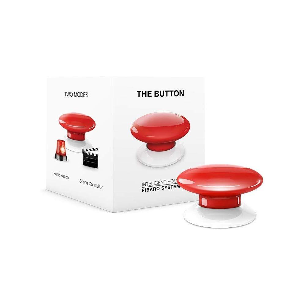 Fibaro Interruptor FGPB-101-3-EU, Rojo