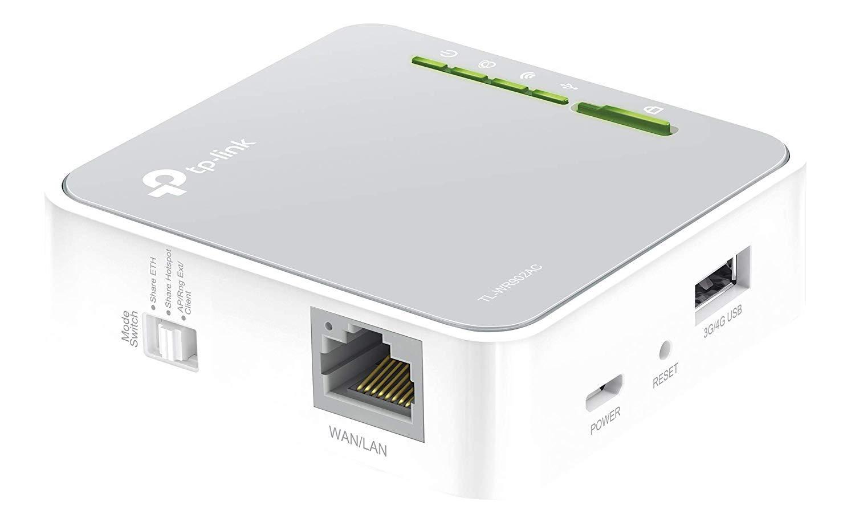 TP-Link WR902AC, Router de Viaje 4G Enrutador de Viaje Inalámbrico Doble Banda 750Mbps 3 Modos