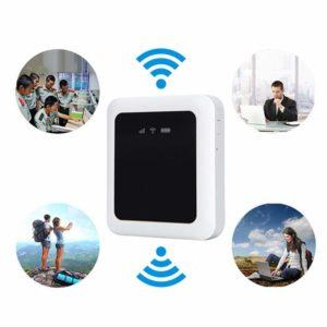 Inalámbrico de Viaje Router, 4G / 3G Wi-Fi Hotspot, Fdd-Lte B1/B3 Red, Roams en Todos World,Qualcomm 9200 Chip, Portátil Inalámbrico 4G Router - 86x76x22mm