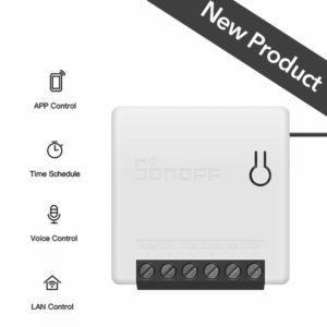 OWSOO SONOFF Mini Interruptor 10A, Interruptor de Dos Vías, Mini Switch, Soporta Modo de DIY, Control de App, Control de Voz, Temporización, Compatible con Google Home/Amazon Alexa