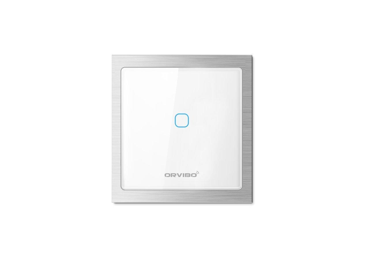 Orvibo ZigBee T20W1Z - Mando a distancia WiFi (interruptor de encendido/apagado, 1 banda), Pack de 4