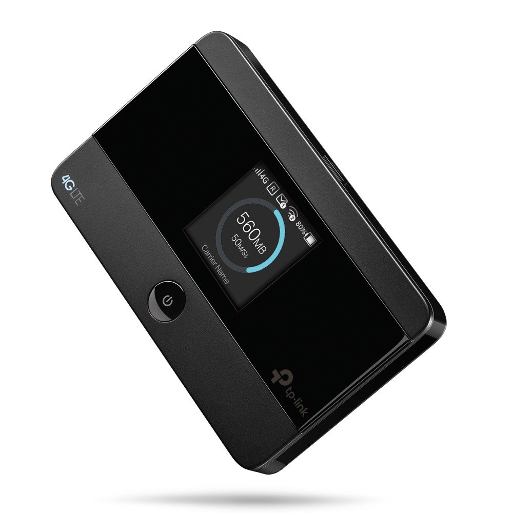 TP-Link Router 4G móvil Wifi MiFi 4G Cat4 con Batería 2000 mAh, WiFi de 150 Mbps, Pantalla OLED muestra toda la información, Uso hasta 10 dispositivos simultáneamente, Control de tráfico(M7350)